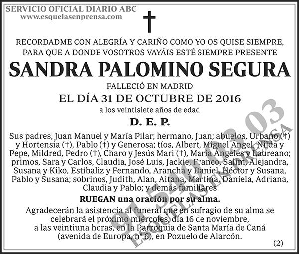 Sandra Palomino Segura